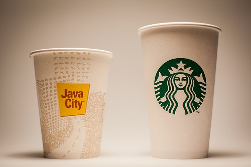 Starbucks vs. Java City in Rose Library